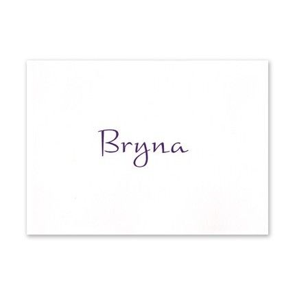 Simple White Note Card