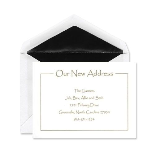 Our Address Flat Card