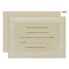 Carlson Craft Wedding 2015 123585 123584 Response Card