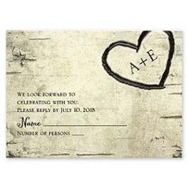 Carlson Craft Wedding 2015 123758 123737 Response Card