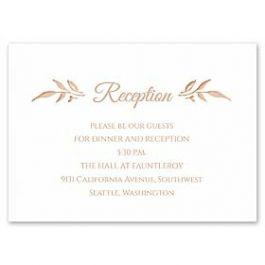 Carlson Craft Simple but Elegant 129006 128982 Reception Card