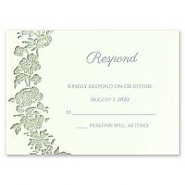 Carlson Craft Simple but Elegant 129014 128985 Response Card