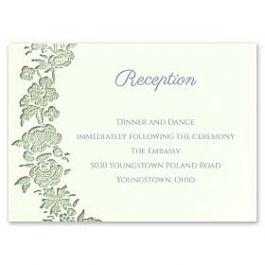 Carlson Craft Simple but Elegant 129015 128985 Reception Card