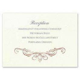 Carlson Craft Simple but Elegant 129018 128986 Reception Card