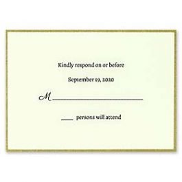 Carlson Craft Simple but Elegant 129020 128987 Response Card