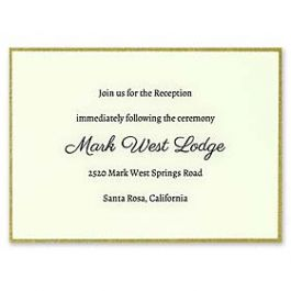 Carlson Craft Simple but Elegant 129021 128987 Reception Card