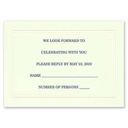 Carlson Craft Simple but Elegant 129023 128988 Response Card