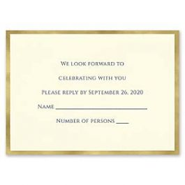 Carlson Craft Simple but Elegant 129043 128995 Response Card