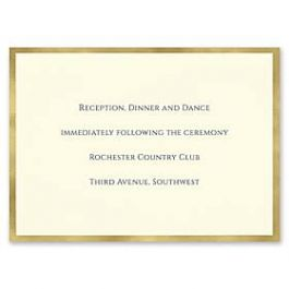 Carlson Craft Simple but Elegant 129044 128995 Reception Card