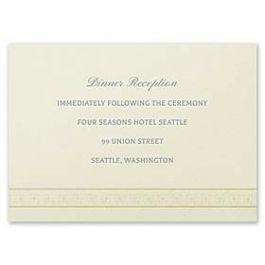 Carlson Craft Simple but Elegant 129050 128997 Reception Card