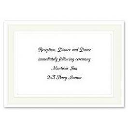 Carlson Craft Simple but Elegant 129053 128998 Reception Card