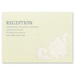 Carlson Craft Themes & Dreams 129126 129113 Reception Card