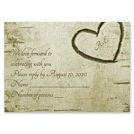 Carlson Craft Themes & Dreams 129134 129116 Response Card