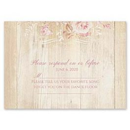 Carlson Craft Themes & Dreams 129140 129118 Response Card