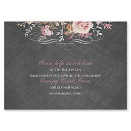 Carlson Craft Themes & Dreams 129141 129118 Reception Card