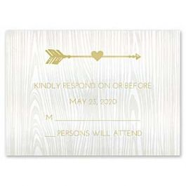 Carlson Craft Themes & Dreams 129143 129119 Response Card