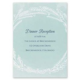 Carlson Craft Themes & Dreams 129150 129121 Reception Card