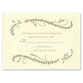Carlson Craft Themes & Dreams 129152 129122 Response Card