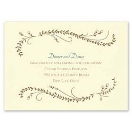 Carlson Craft Themes & Dreams 129153 129122 Reception Card