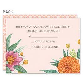 Bonnie Marcus Wedding 122893 122883 Response Card