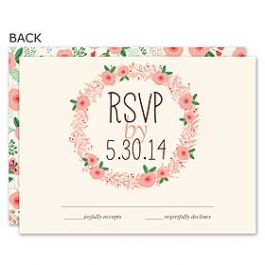 Bonnie Marcus Wedding 122895 122887 Response Card
