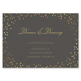 Bonnie Marcus Wedding 127398 127367 Reception Card
