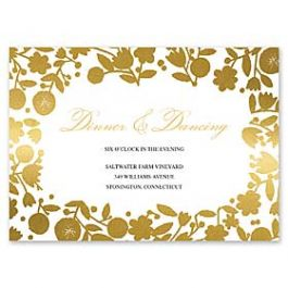 Bonnie Marcus Wedding 127402 127370 Reception Card