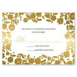 Bonnie Marcus Wedding 127403 127370 Response Card