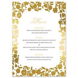 Bonnie Marcus Wedding 127405 127370 Menu Card
