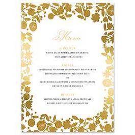 Bonnie Marcus Wedding 127405 127370 Menu Card