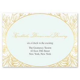Bonnie Marcus Wedding 127406 127373 Reception Card