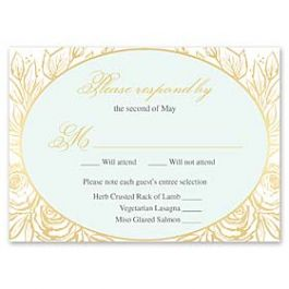 Bonnie Marcus Wedding 127407 127373 Response Card