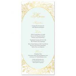 Bonnie Marcus Wedding 127409 127373 Menu Card