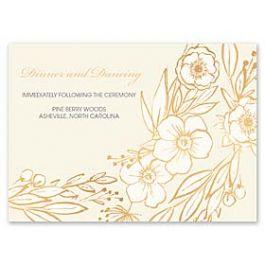 Bonnie Marcus Wedding 127410 127376 Reception Card