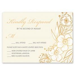 Bonnie Marcus Wedding 127411 127376 Response Card