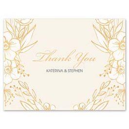 Bonnie Marcus Wedding 127412 127376 Thank You Note