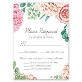 Bonnie Marcus Wedding 127418 127382 Response Card