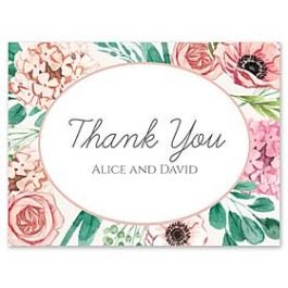 Bonnie Marcus Wedding 127420 127382 Thank You Note