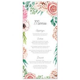 Bonnie Marcus Wedding 127421 127382 Menu Card