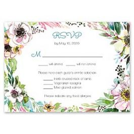 Bonnie Marcus Wedding 128841 128817 Response Card