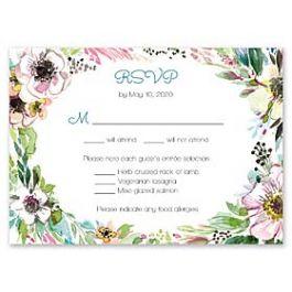 Bonnie Marcus Wedding 128841 128817 Response Card