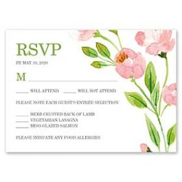 Bonnie Marcus Wedding 128845 128821 Response Card