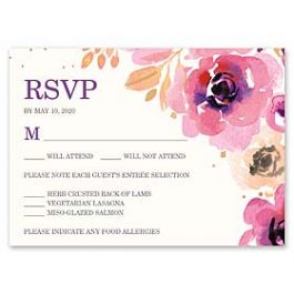 Bonnie Marcus Wedding 128849 128824 Response Card