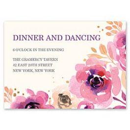 Bonnie Marcus Wedding 128850 128824 Reception Card