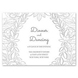 Bonnie Marcus Wedding 128854 128827 Reception Card