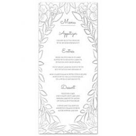Bonnie Marcus Wedding 128855 128827 Menu Card