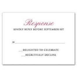 Stevie Streck Designs Wedding - L 125340 125310 Response Card