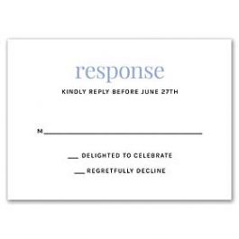 Stevie Streck Designs Wedding - L 125340 125311 Response Card