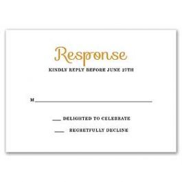 Stevie Streck Designs Wedding - L 125340 125312 Response Card