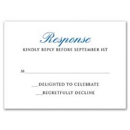 Stevie Streck Designs Wedding - L 125340 125314 Response Card